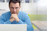 casual businessman with laptop