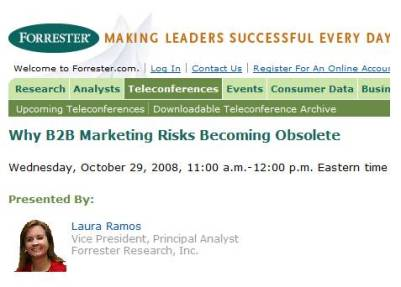 Forrester: is B2B marketing going obsolete?