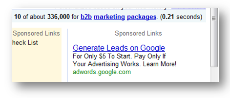 What's wrong with this Google Adwords Ad?