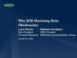 Why B2B Marketing Risks Obsolescence