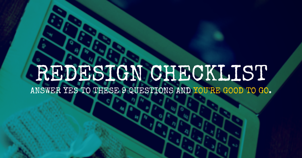 9-point checklist for B2B website redesign